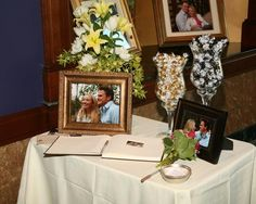 Guestbook table set up idea in My Wedding Fav Ideas by