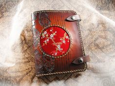Leather Journal Cover - The Forbidden Orient II. $95.00, via Etsy.  Dude! It's a slip-cover for books/journals!