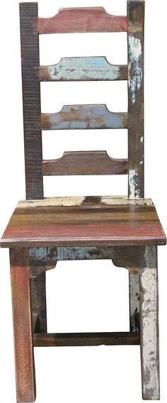 Wohnmöbelprogramm »Colorful« mit Korpus aus FSC®-zertifizierter Akazie bzw. Mango. Fronten aus recylceltem Holz in harmonischen Farben mit Charakter. Die besondere Optik sticht hervor, zudem ist jedes Möbel ein Unikat.  Die Stühle »Colorful« sind ideal zum Esstisch »Colofull«. Maße (B/T/H): 46/46/99 cm.   Details:  Brettsitz, FSC®-zertifiziertes Massivholz, In hochwertiger Verarbeitung, Artikel...