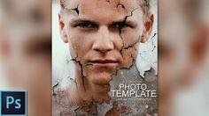 Demolition Portrait Poster - Photoshop Template