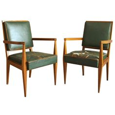 Pair of Armchairs by Maxime Old | From a unique collection of antique and modern armchairs at https://www.1stdibs.com/furniture/seating/armchairs/