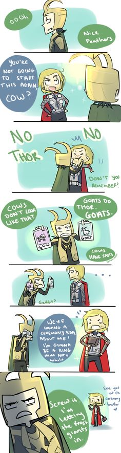 they really did have a scene in Thor right before the ceremony where Thor made fun of Loki's helmet. Lol
