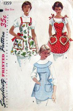 Simplicity 1359 - Vintage Aprons