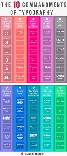 Business infographic : Business infographic : Los 10 Mandamientos de la tipografía | Vecindad Gráfica