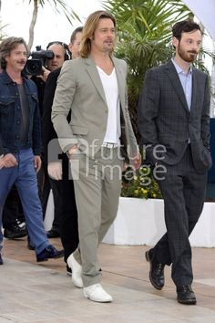 Brad Pitt and Scoot McNairy pose at the KILLING THEM SOFTLY photocall during the 65th Annual Cannes Film Festival at Palais des Festivals on May 22, 2012 in Cannes, France. (photo Lavinia Fontana)