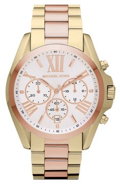 Michael Kors 'Bradshaw' Chronograph Watch! I want this!!!