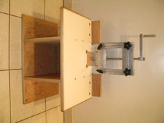 Horizontal router table plans feb 18 2013 adjustable for Best horizontal router table
