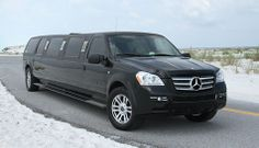 Black Mercedes Limo (up to 14 passengers)