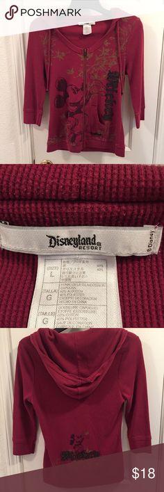 Disney Resort Mickey thermal zip up hoodie Red Disney Resort Mickey thermal zip up hoodie in size large. Disney Tops Sweatshirts & Hoodies