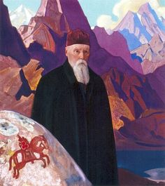 Nicholas Roerich - portrait by his son Sviatoslav 1939