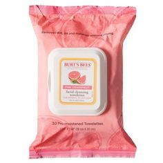 Burt's Bees Facial Cleansing Towelettes - Pink Grapefruit - 30 count from Target. Makeup Remover Wipes, Facial Cleansers, Clean Makeup, Pink Grapefruit, Healthy Skin Care, Burts Bees, Face Cleanser, Face Care, Natural Skin Care