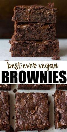 Best Ever Vegan Brownies recipe, no beans or weird ingredients! Easy to make. – Carrie Tubbs Best Ever Vegan Brownies recipe, no beans or weird ingredients! Easy to make. Best Ever Vegan Brownies recipe, no beans or weird ingredients! Easy to make. Best Vegan Brownies, Dairy Free Brownies, Moist Brownies, Beste Brownies, Vegan Chocolate Brownies, Best Vegan Cookies, Chocolate Desserts, Vegan Avocado Brownies, Healthy Dessert Recipes