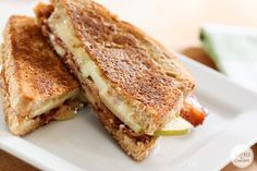 Jalapeño Bacon Apple Grilled Cheese Sandwich | Inspired by Charm