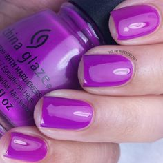 Violet Vibes by China Glaze part of the Electric Nights Summer 2015 Collection. Full review and more swatch photos available on my blog ManicuredandMarvelous.com.  #nail #nails #nailpolish #polish #swatch #polishswatch #chinaglaze