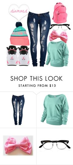 """""""Diamond Love <3"""" by ray-ray-wifey1-4-3 ❤ liked on Polyvore featuring Boohoo, Volcom, NIKE, Cutler and Gross and Kipling"""