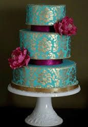 hand painted wedding cakes - Google Search