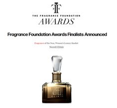 """We are proud to announce NORELL ELIXIR has been named a 2017 """"Fragrance of the Year Women's Luxury"""" Top Ten Finalist in The Fragrance Foundation Awards!  #NorellElixir #TFFAwards"""