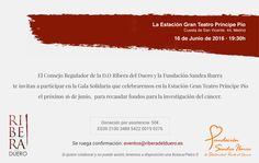 """Ribera del Duero apoya la lucha contra el cáncer en la """"Gala solidaria #EspírituRibera"""", En Bodegas Comenge estaremos participando en este evento..   Podéis seguir la subasta solidaria, desde la dirección http://www.subastasribera.com/es/"""