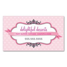 BUSINESS CARD cute stylish pink pastel pale baby. Make your own business card with this great design. All you need is to add your info to this template. Click the image to try it out!