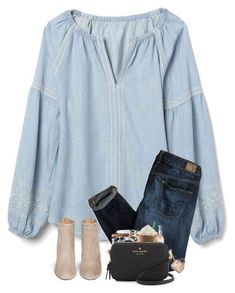 """""""Going to one of my friends birthday party tomorrow!!!"""" by preppyandsouthern17 ❤ liked on Polyvore featuring Gap, American Eagle Outfitters and Aquazzura #americaneagleoutfitters"""