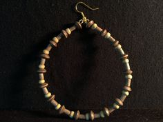 Upcycled wooden beaded Hoops