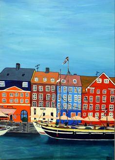 Copenhagen, acrylic painting