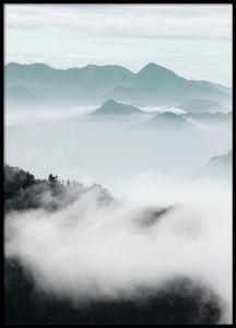 Cloud Mountains, plakat