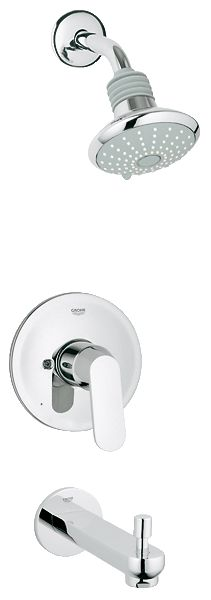 GROHE Eurosmart®  Cosmopolitan Bath  & Shower Collection. Pressure Balance Valve Bath Combination