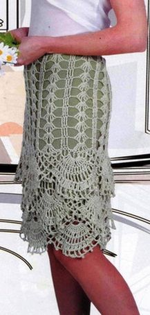 How to skirt crochet russian diagram. Love the edging on this.