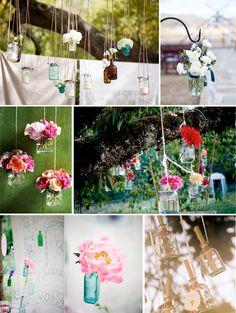 The secret is to dream | BLOG: INSPIRATIE: Hangende flessen voor op je feest (of voor in huis)