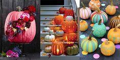 Willkommen, Herbst! 20 Ideen für Deko mit Kürbissen Die Nächte werden länger, die Morgen kälter und die Blätter der Bäume wechseln ihre Farben – der