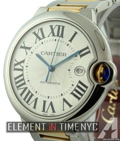 Cartier Ballon Bleu Collection Steel / Yellow Gold Automatic 42mm Reference #: W69009Z3