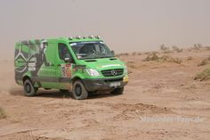 4x4 Mercedes Sprinter driven by Sabrina Mayer and Larissa Lauber, Team 318 for Mercedes in the 2013 Rallye Aicha des Gazelles in Morocco (photo from Mercedes Fans).