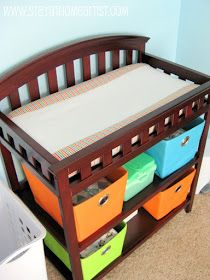 center stripe changing pad cover... Use laminated fabric in the middle stripe to make wipeable