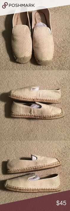 Vince Camuto white Espadrilles White Vince Camuto white espadrilles worn once! Great condition and so cute. Vince Camuto Shoes Espadrilles