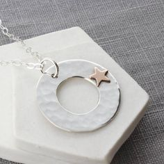 Personalised Gold Star Pendant