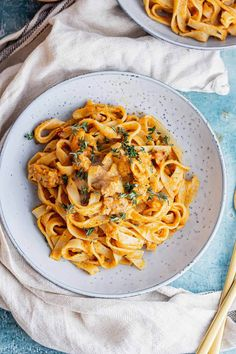 This creamy tagliatelle is the perfect autumn dinner recipe! With a rich butternut squash sauce and sausage pieces stirred through it's such a simple and delicious dish. #thecookreport #tagliatelle #pastarecipe Veggie Sausage, Fall Dinner Recipes, Mediterranean Recipes, Main Courses, Butternut Squash, Tasty Dishes, Slow Cooker Recipes, Pasta Recipes, Vegetarian Recipes