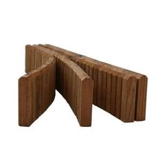Design Craft MIllworks 5-1/2 in. x 12 ft. Natural Wood Lawn Edging-50001 at The Home Depot