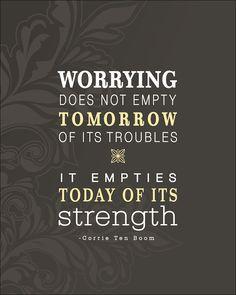 ....and Spiritually Speaking: Worrying