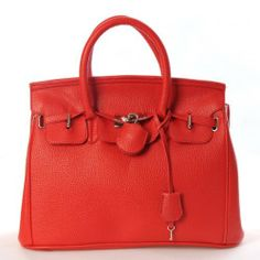 Hollywood Top Picks Handbag Faux Leather Tote Purse with Lock & Key Red, http://www.amazon.com/dp/B007M85HQK/ref=cm_sw_r_pi_awdm_22g5sb01T0EDS