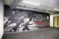 www.vinylimpression.co.uk Awesome wall mural, a great quote to inspire. Amazing office space!