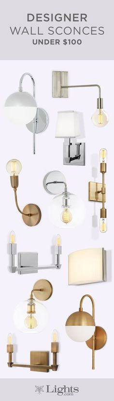 Our collection of wall sconces feature classic shapes and minimal styles that fit seamlessly into a range of decor aesthetics.