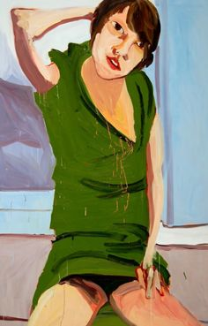 Chantal Joffee_ Jofee's paintings are based loosely on photographs of women sourced from fashion magazines, photo albums, pornography, and elsewhere