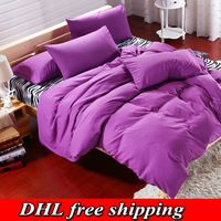 Flower gift] 2016 high quality bedding duvet cover bed sheet set zebra solid color bedspread bed linen king super king bed set