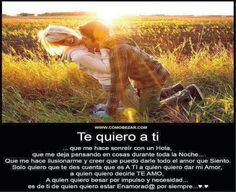 1000 images about a a on pinterest hj story te amo and - Te quiero textos ...