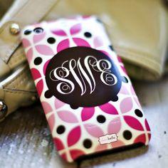 Monogram Cell Phone Case
