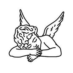 Pesar Tattoo - Semi-Permanent Tattoos by inkbox™ Cupid Tattoo, Cherub Tattoo, Inkbox Tattoo, Psalm Tattoo, Art Drawings Sketches, Tattoo Sketches, Tattoo Drawings, Sketch Tattoo Design, Doodle Drawings