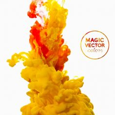 colorful ink magic effect background vector