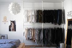 raw design blog - bedroom's big cloth rack