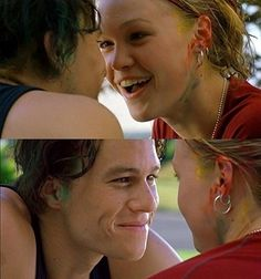 10 things i hate about you! heath ledger and julia stiles Heath Ledger, 90s Movies, Great Movies, Amazing Movies, Movies And Series, Movies And Tv Shows, Tv Series, Love Movie, Movie Tv